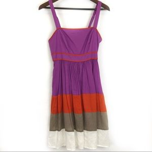 Jessica Simpson Color Block Cotton Dress EUC